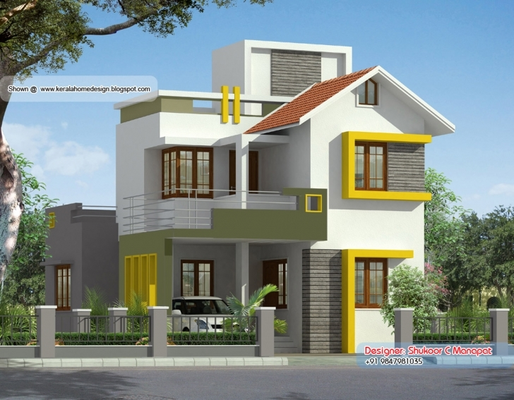 Top Photo of Square Feet Kerala Style Villa Plan Home Design Floor - House Plans Budget House Plans Kerala Style Picture