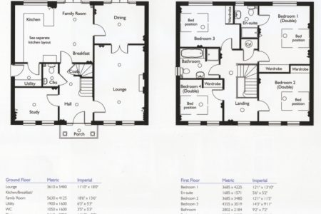 Building Plans For 4 Bedroom House