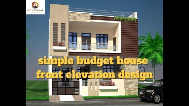 Top Simple Budget House Front Elevation Design | Best Indian Home Home Front Design Simple Image