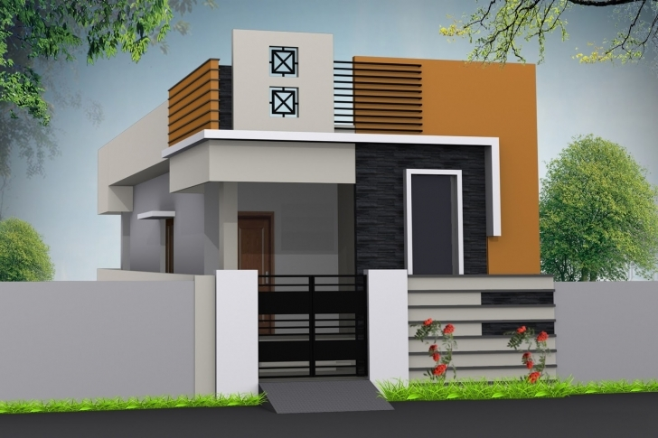 Top Single Floor House Elevation Designing Photos | Home Designs Single Floor Elevation Colours Image