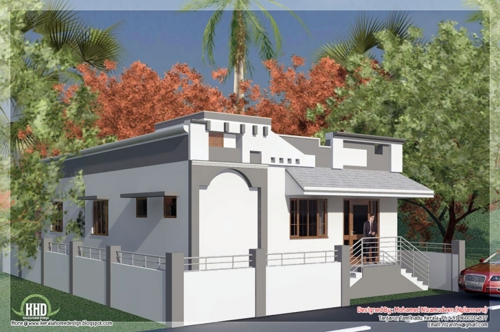 Top Style Single Floor House Feet Design Plans - Building Plans Online Single Floor Small Home Front Design Photo
