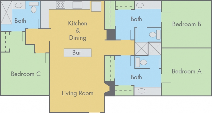 Top Suites At Adobe Floor Plan - 3 Bedroom, 3 Bathroom Flat Picture Of 3 Bedroom Flat Plan Photo