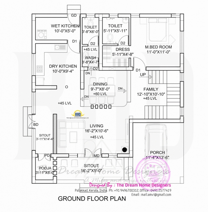 Wonderful 20 Lovely 1900 Sq Ft House Plans Kerala | Disneysoul House Plan Drawing 1700 Sq Ft Photo