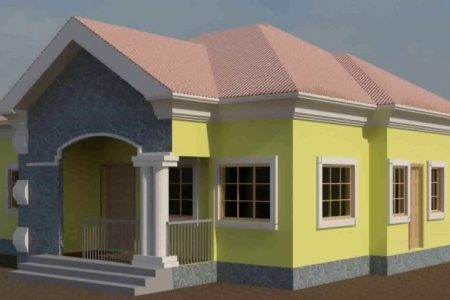 Modern 3 Bedroom Flat Plan In Nigeria