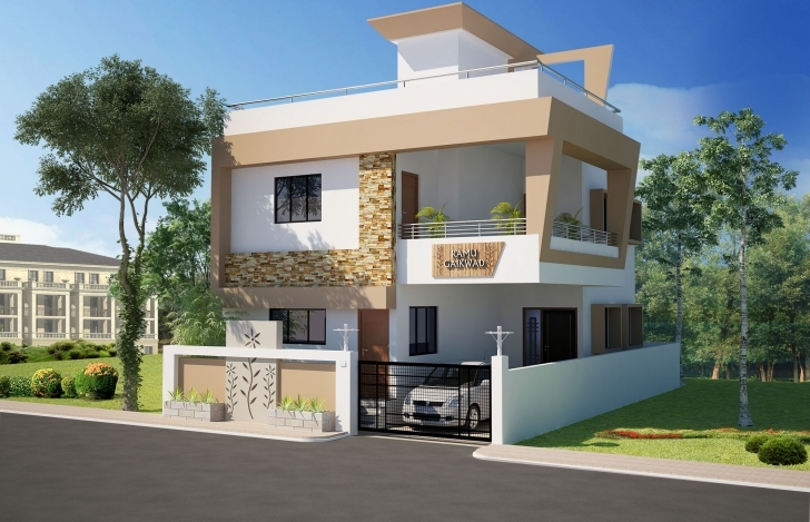 Wonderful 3D Front Elevation Concepts | Home Design 3D Front Elevation Of House Picture