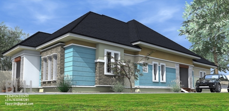 Wonderful 4 Bedroom Bungalow Architectural Design Captivating 4 Bedroom 4N Bedroom Bungalow Architectural Design Photo
