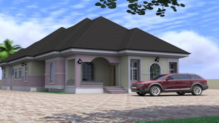 Wonderful 4 Bedroom Bungalow House Design In Nigeria - Youtube 4 Bedroom House Plans In Nigeria Image