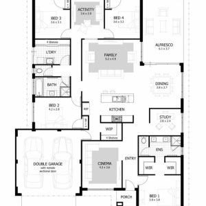 Four Bedroom Floor Plans In Nigeria
