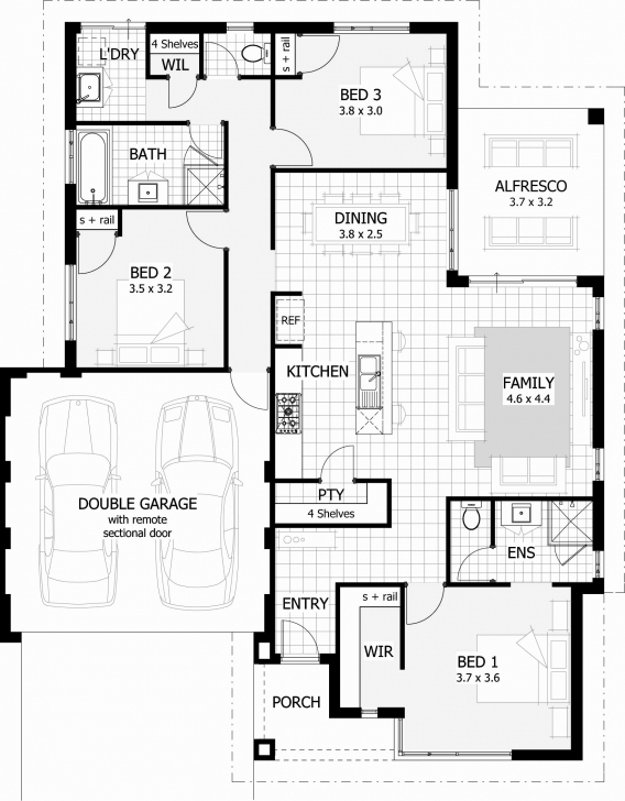 Wonderful 60 Inspirational Pics Floor Plans 5 Bedroom House | Hous Plans 3 Bedroom House Plans With Double Garage Australia Image