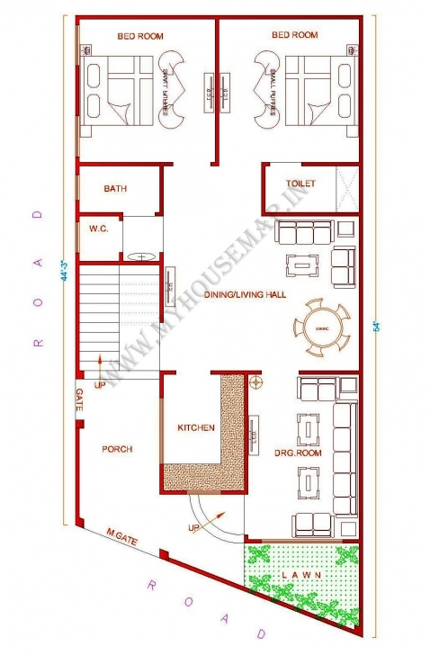 Wonderful Appealing 2 Home Naksa House Plan For 23 Feet By 45 Plot Plot Size 23*45 House Design Pic
