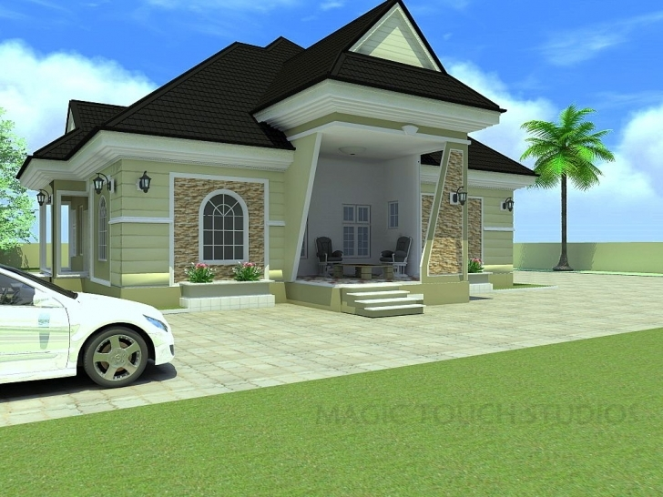 Wonderful Bedroom Bungalow Architectural Design Four Elegant Modern Duplex 4 Bedroom Flat Bungalow Plan Pic