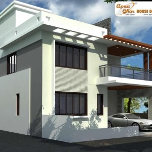 North Face Duplex House Elevation