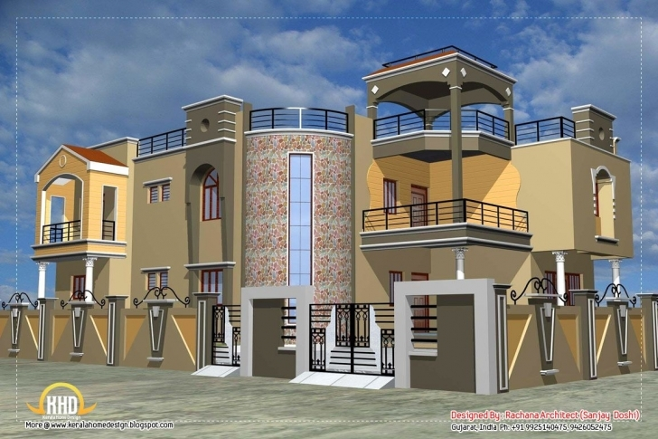 Wonderful Fancy Houses In India | Indian House Design. Most People In India Fancy House Design Picture