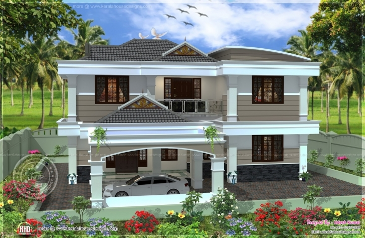 Wonderful First Floor House Design In India | Floor Photo Ideas & Floor Design Rcc House Front Design Photo