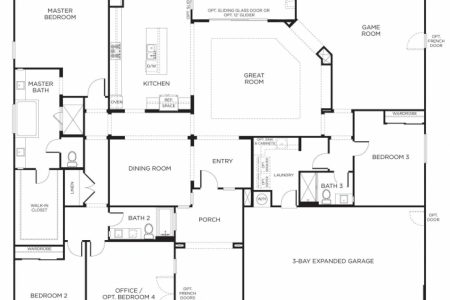 Four Bedroom Floor Plans Single Story