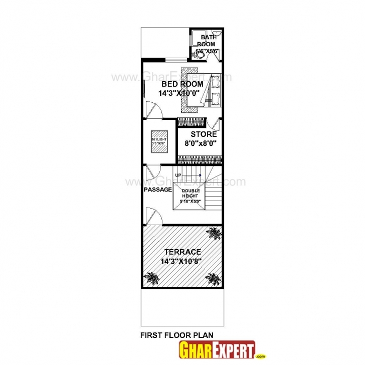 Wonderful House Plan For 15 Feet By 50 Plot Size 83 Square Yards Prepossessing House Plan For 16 Feet By 50 Feet Pic
