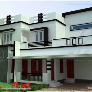 2 Bedroom Flat Roof House Plans