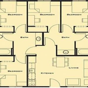 Free Simple 4 Bedroom House Plans