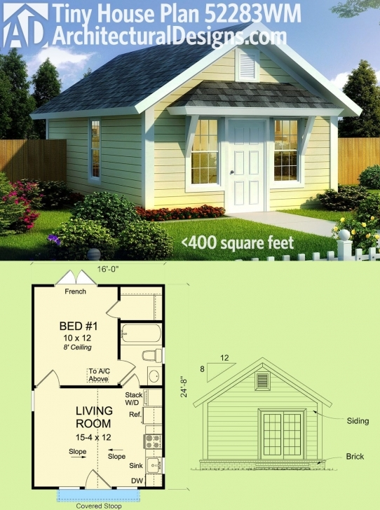 Wonderful Plan 52283Wm: Compact Tiny Cottage | Tiny House Plans, Tiny Houses Tiny Small Barn Brick House Plans Image