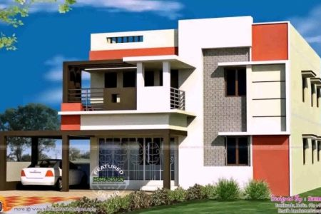 House Front Elevation Designs For Single Floor In India