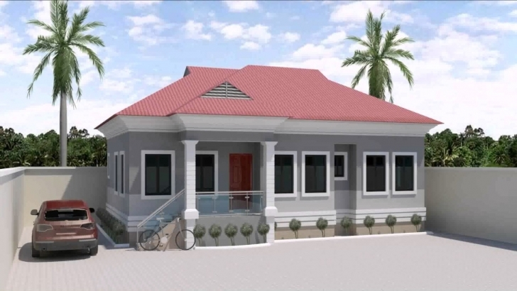 Amazing 3 Bedroom Bungalow House Designs In Nigeria - Youtube Building Plans On Half Plot Picture