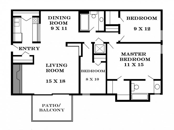 Amazing 3 Bedroom Flat Floor Plan Nice Ideas Storage Of 3 Bedroom Flat Floor Three Bedroom Flat House Plan Image
