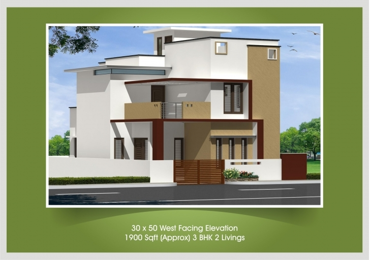 Amazing 30X40 House Plan And Elevation - Homes Floor Plans 30 50 House Elevations Pic