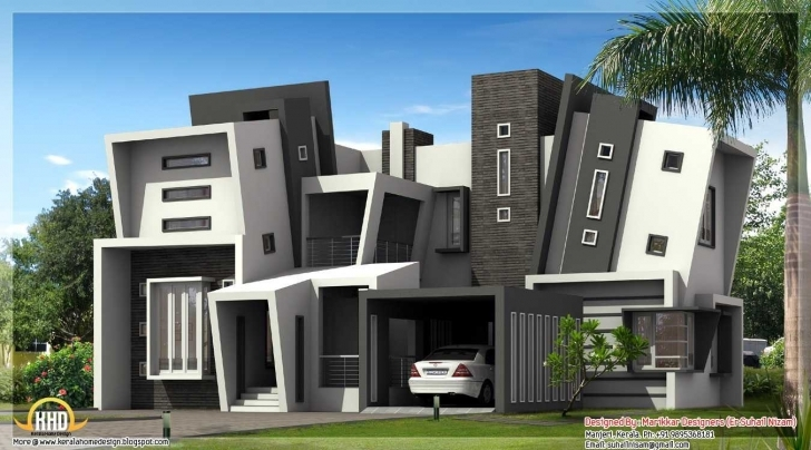 Amazing Beautiful 4 Bedroom Modern House Design Also Apartments Collection Modern House Plans 4 Bedroom Picture