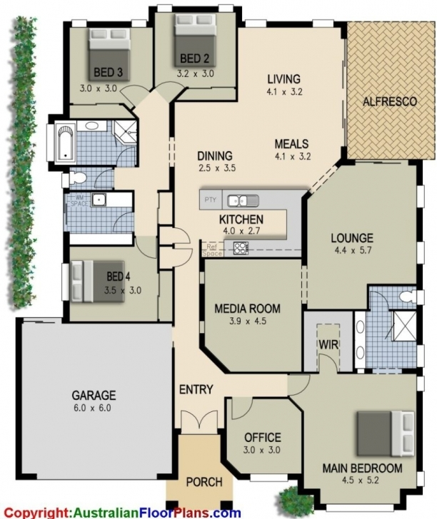 Amazing Bedroom: 4 Bedrooms House Plans 4 Bedroom Modern House Plans India Pic