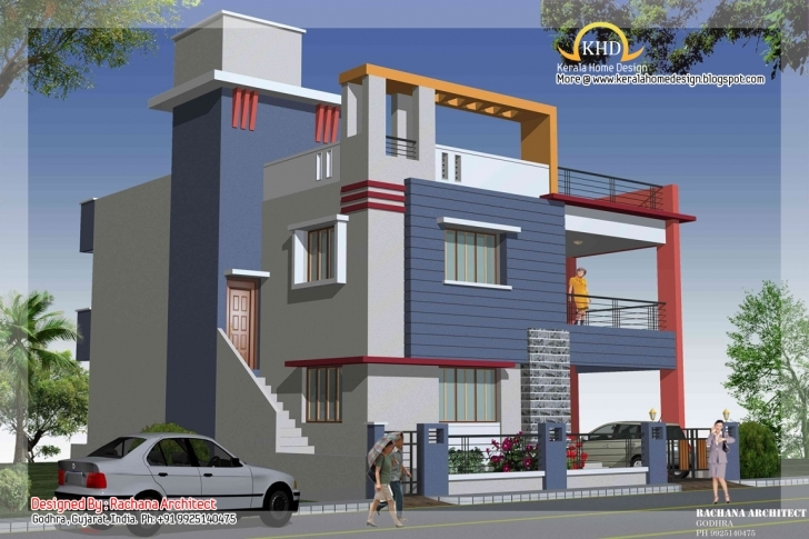 Amazing Duplex House Plan Elevation Kerala - House Plans | #89088 Residential Building Plan And Elevation In India Image