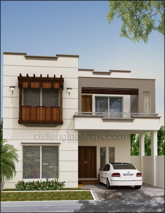 Amazing Front Views - Civil Engineers Pk 5 Marla House Front Elevation Designs Pic