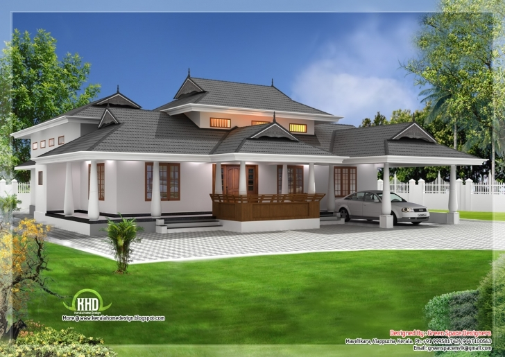Amazing Home Architecture: Traditional Single Storey Ed Naalettu With Single Floor House Plans Kerala Style Photo