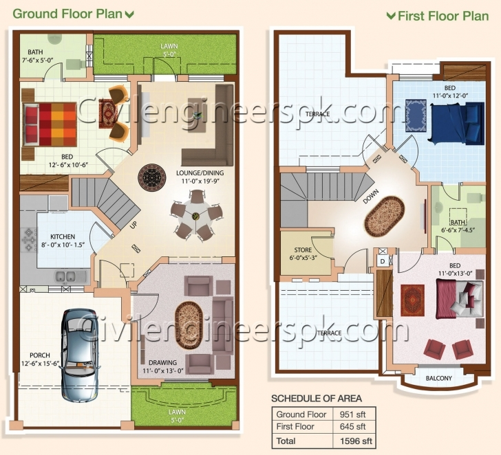 Amazing House Plan 25 X 45 Luxury Appealing Five Marla House Map House Map Design 15 X 45 Photo