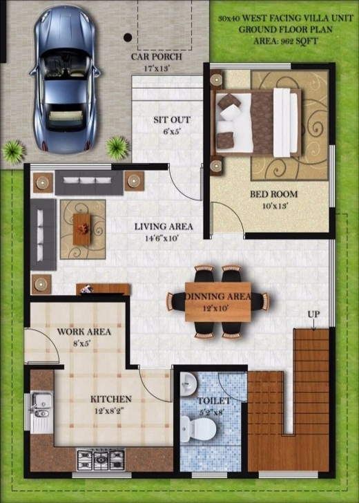 Amazing House Plan And Elevation Photos | The Best Wallpaper 50*40 House Plan 3D Picture