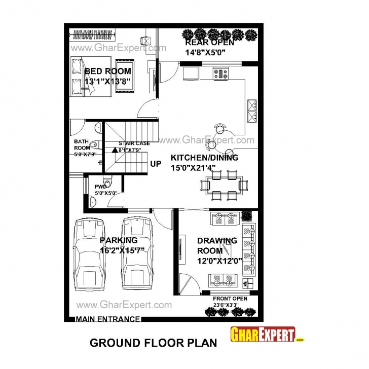 Amazing House Plan For 30 Feet By 45 Feet Plot (Plot Size 150 Square Yards 23*45 House Plan Pic