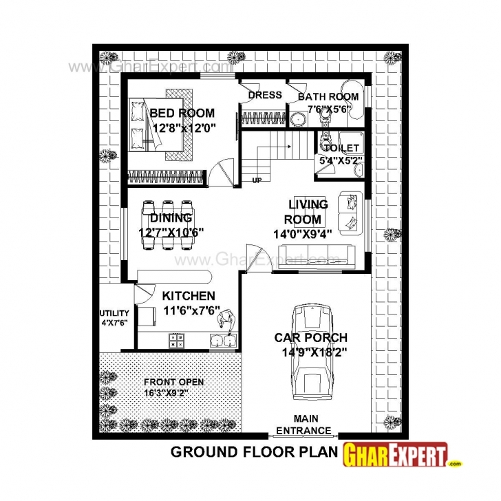 Amazing House Plan For 36 Feet By 45 Feet Plot (Plot Size 180 Square Yards House Plan For 30 Feet By 45 Feet Plot Plot Size 150 Square Yards Picture