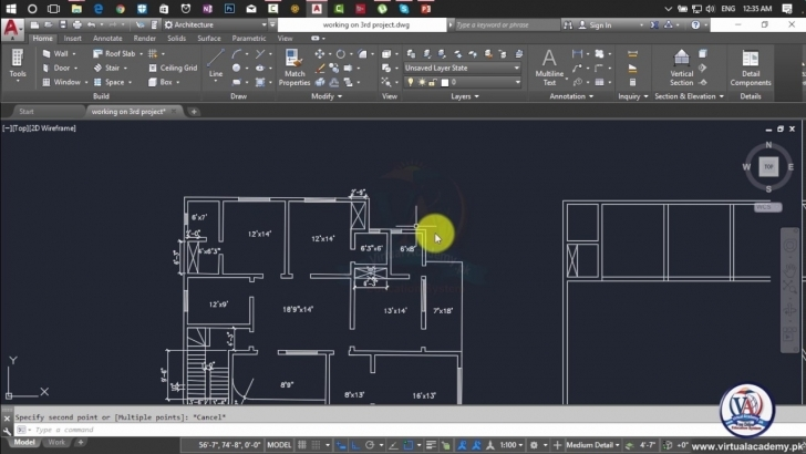 Amazing How To Make 2D Floor Plan In Autocad 2017 | Autocad 2D And 3D Autocad 2D Plan Image Image
