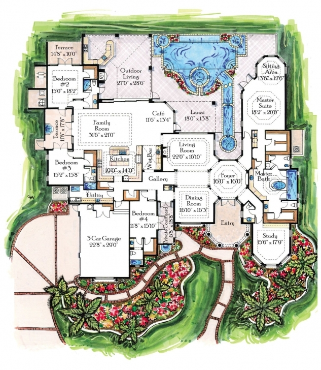 Amazing Luxury Homes And Plans, Designs For Traditional Castles,villas Luxury House Plans Photo