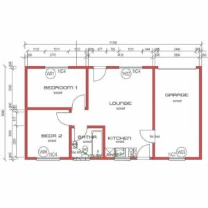 House Plans South Africa 2 Bedroomed