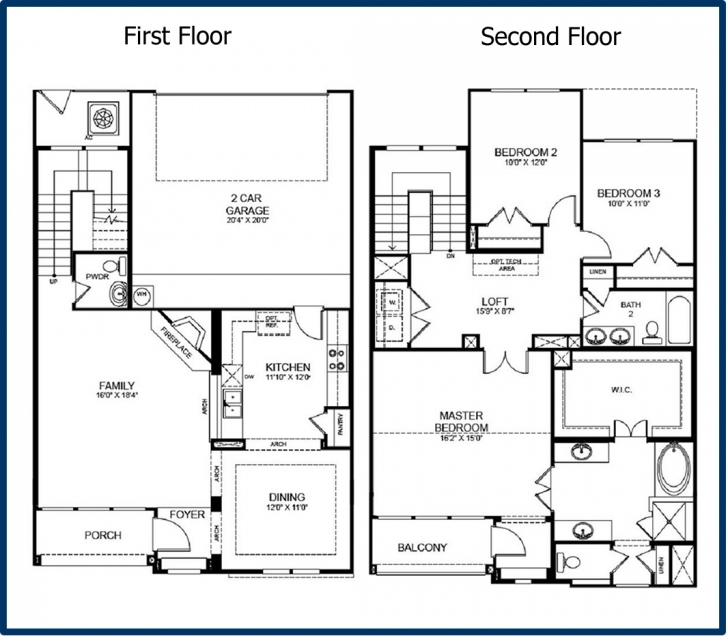 Astonishing Home Architecture: House Plan Bedroom Small Story House Plans Three Two Storey House Plan Three Bedroom House With Elevation Image