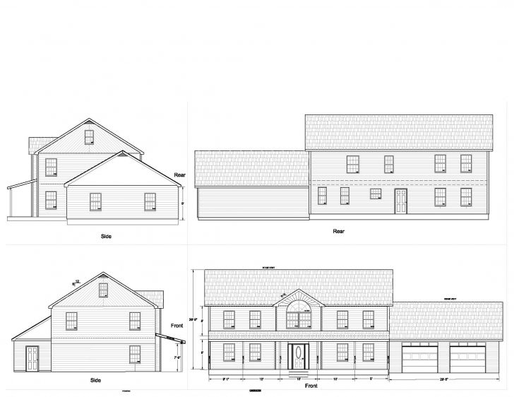 Astonishing House Plans Elevation Floor Plan North Arrow Model - Building Plans House Planning With Elevation Image