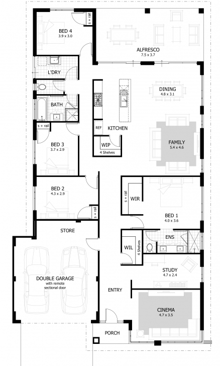 Astonishing House Plans: Eplan House Plans | Blueprints Of Houses To Build Building Plans For 4 Bedroom House Image