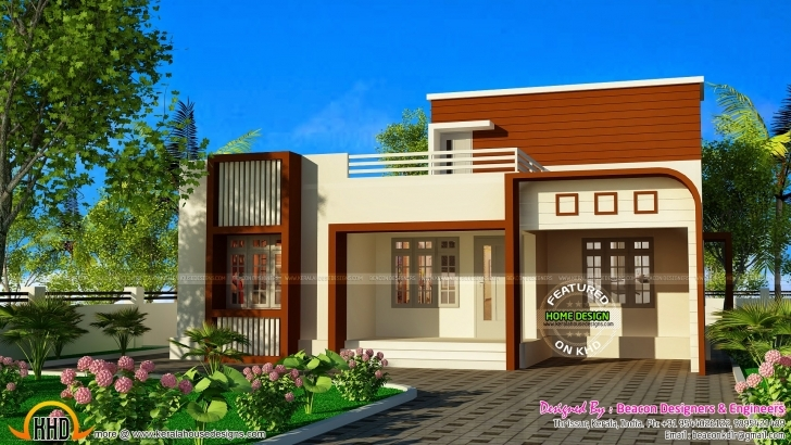Astonishing Inspirations: Front Elevation Of Single Floor House Kerala Also 2017 Simple Single Floor Home Front Design Picture