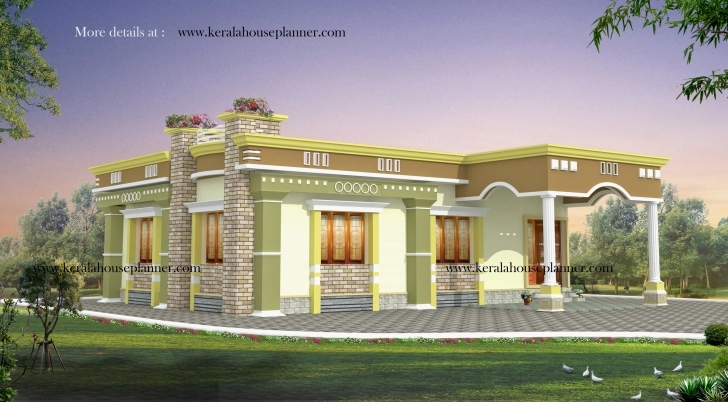 Astonishing Kerala House Plans 1200 Sq Ft With Photos - Khp Kerala Home Design Single Floor Plan Picture
