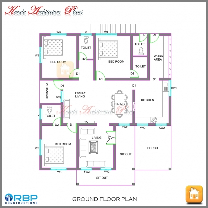 Astonishing Kerala Style Single Storied House Plan And Its Elevation Kerala House Plans And Elevations Picture