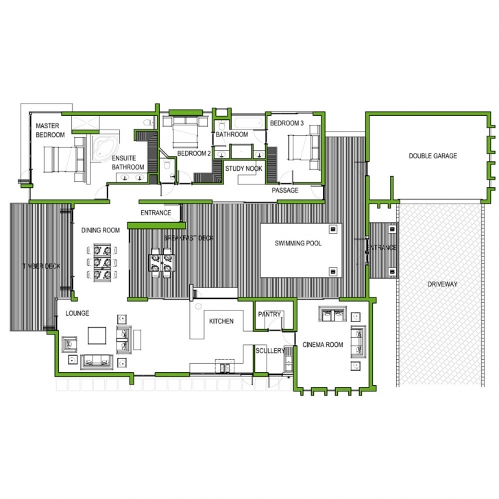 Astonishing Modern House Plan Best Of Free 3 Bedroom Plans  Picture Home Free Simple House Plans South Africa Pic