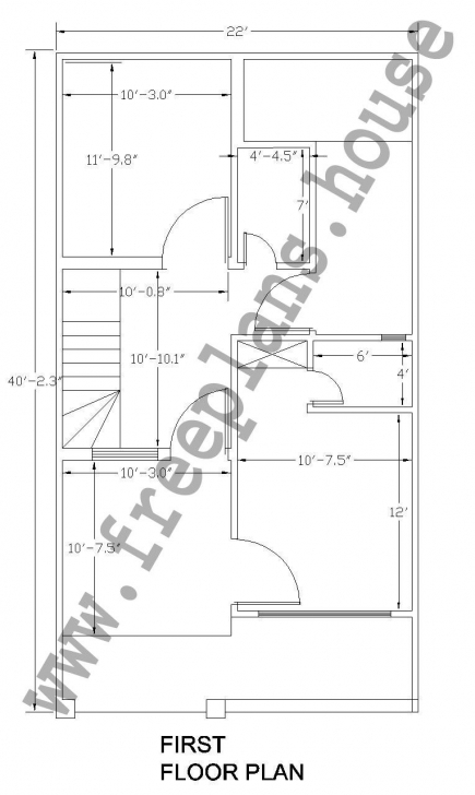 Awesome 22X40 Feet /81 Square Meter House Plan | Plans | Pinterest | Square 22 X 40 House Plans Pic