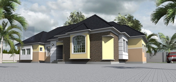 Awesome Contemporary Nigerian Residential Architecture: 4 Bedroom Bungalow 3 Bedroom Flat Bungalow Plan In Nigeria Photo