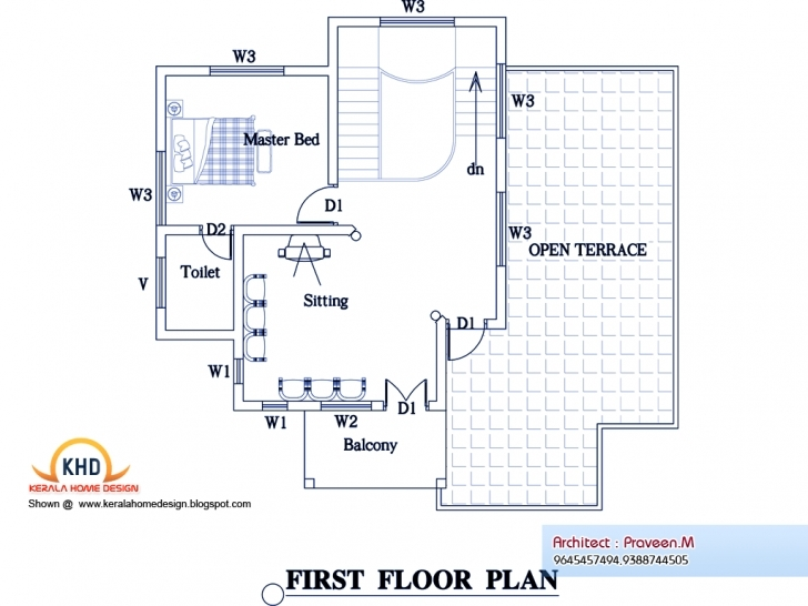 Awesome Home Architecture: Bedroom Home Plan Elevation Kerala Design Floor Civil Design House Pic