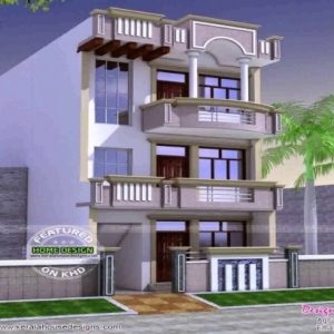 20 X 60 House Front Elevation
